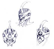 Guyver heads by Adremelech